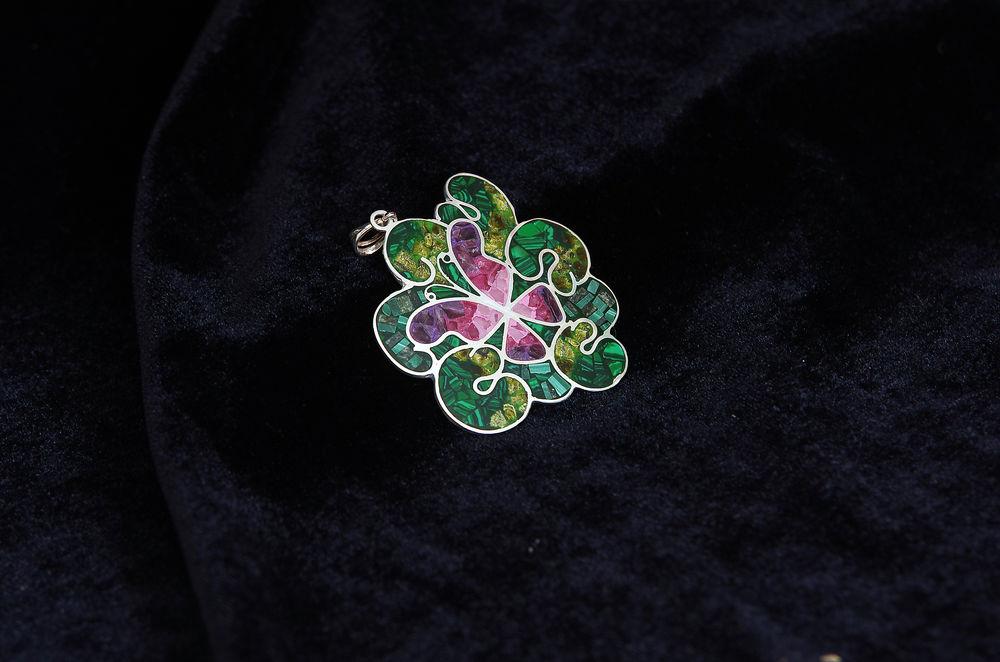 серьги в подарок, мозаика из камней