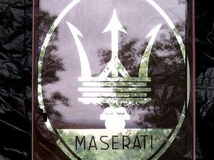 зеркало логотип мазерати. Ярмарка Мастеров - ручная работа, handmade.