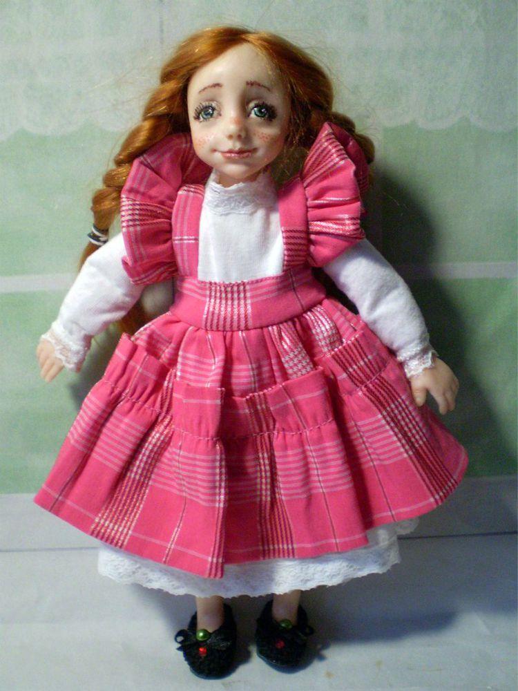 авторские куклы, авторская кукла, платье