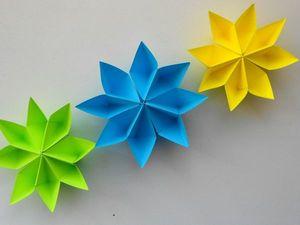 Создаем простые цветы из бумаги. Уроки оригами. Ярмарка Мастеров - ручная работа, handmade.