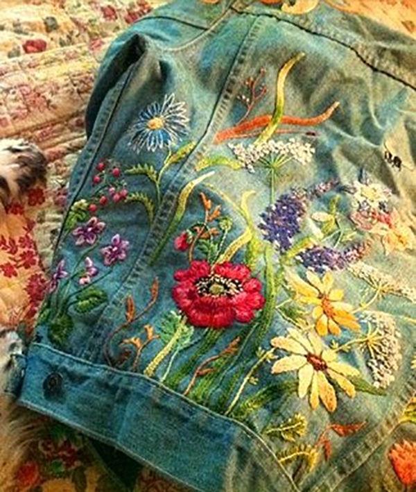 Многообразный декор джинсовых курток: 50 интересных вариантов, фото № 12