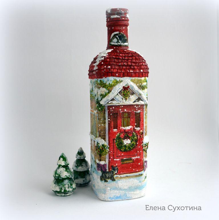 домик из бутылки