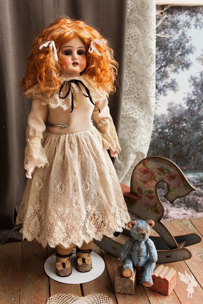 реконструкция куклы, девочка с персиками
