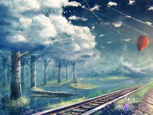 небесный поезд ..   Ярмарка Мастеров - ручная работа, handmade