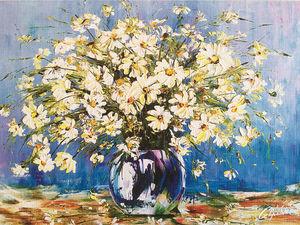 Цветы на моих картинах. Ярмарка Мастеров - ручная работа, handmade.