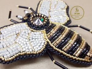 """Видео — обзор Брошь """"Пчела"""" в стиле Dolce&amp&#x3B;Gabbana. Ярмарка Мастеров - ручная работа, handmade."""
