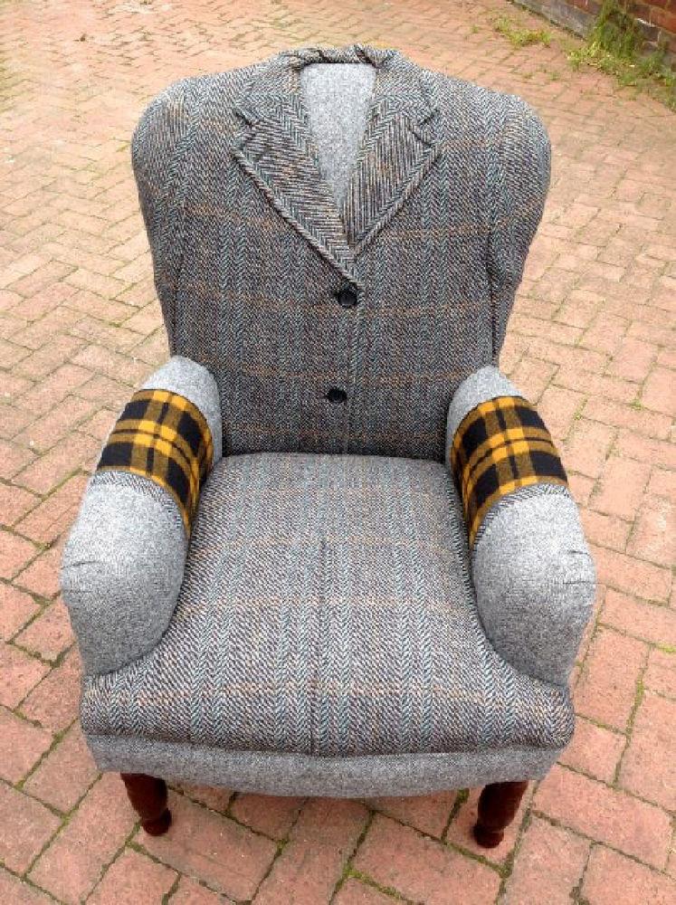старое кресло, вязание