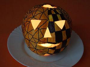 Тыква для Хэллоуина в технике папье-маше. Ярмарка Мастеров - ручная работа, handmade.