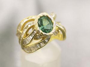 Видео Золотого кольца  «9 Жизней»  с изумрудом и бриллиантами. Ярмарка Мастеров - ручная работа, handmade.