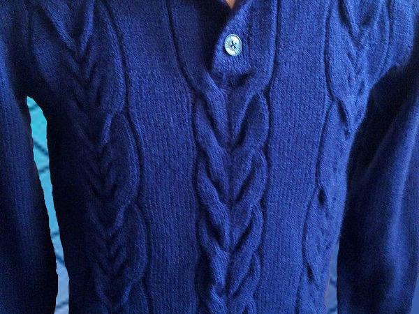 мужской свитер ,,Индиго,, | Ярмарка Мастеров - ручная работа, handmade
