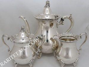 Сервиз чайник сахарница сливочник серебрение 9. Ярмарка Мастеров - ручная работа, handmade.