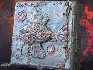"""Шкатулка в стиле стимпанк """"Рыба моей мечты"""". Ярмарка Мастеров - ручная работа, handmade."""