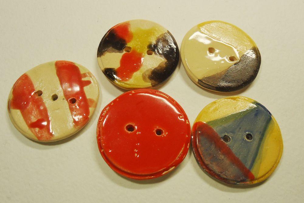 керамика ручной работы, керамические пуговицы