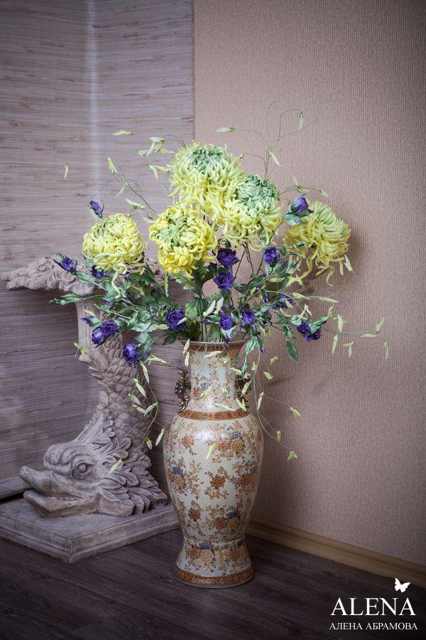 шелковая флористика, цветы из ткани схемы