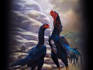 Символ года 2017 в живописи Александра Мусина. Ярмарка Мастеров - ручная работа, handmade.