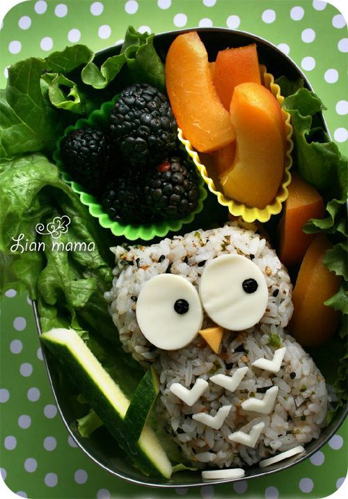 I want to be a kid so someone can pack an owl bento box for me!