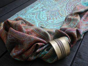 шарфы из индийского шелка Муга.. Ярмарка Мастеров - ручная работа, handmade.