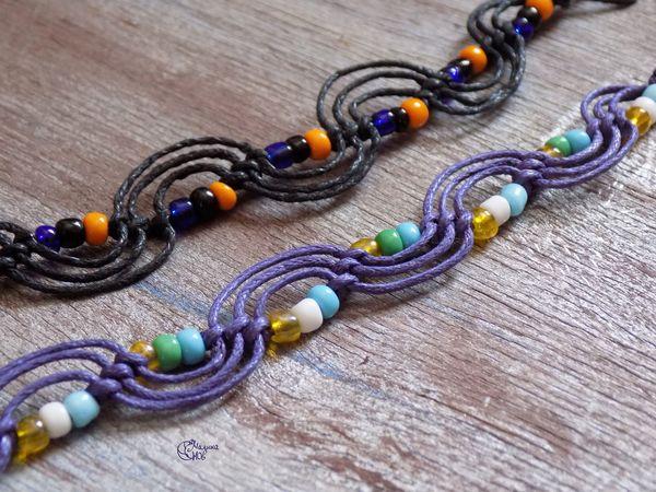Плетем простой макраме браслет за 20 минут   Ярмарка Мастеров - ручная работа, handmade