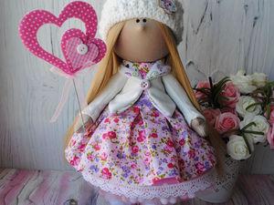 Шьем интерьерную текстильную куколку «от» и «до» | Ярмарка Мастеров - ручная работа, handmade