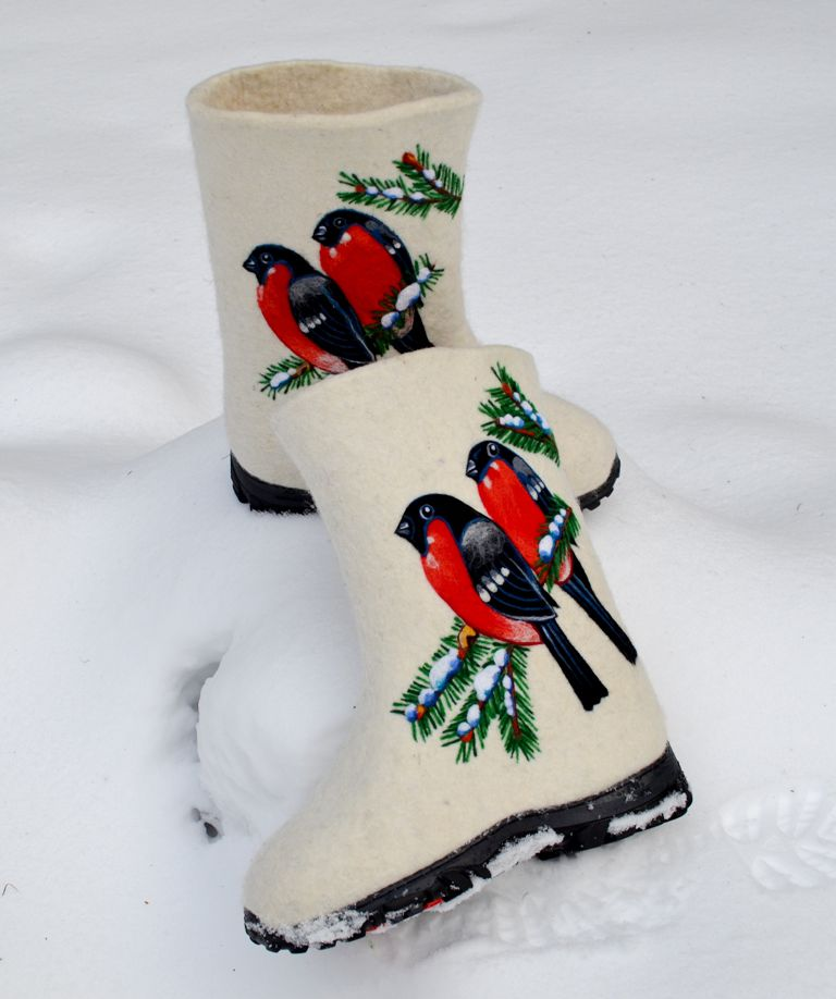 валенки снегири