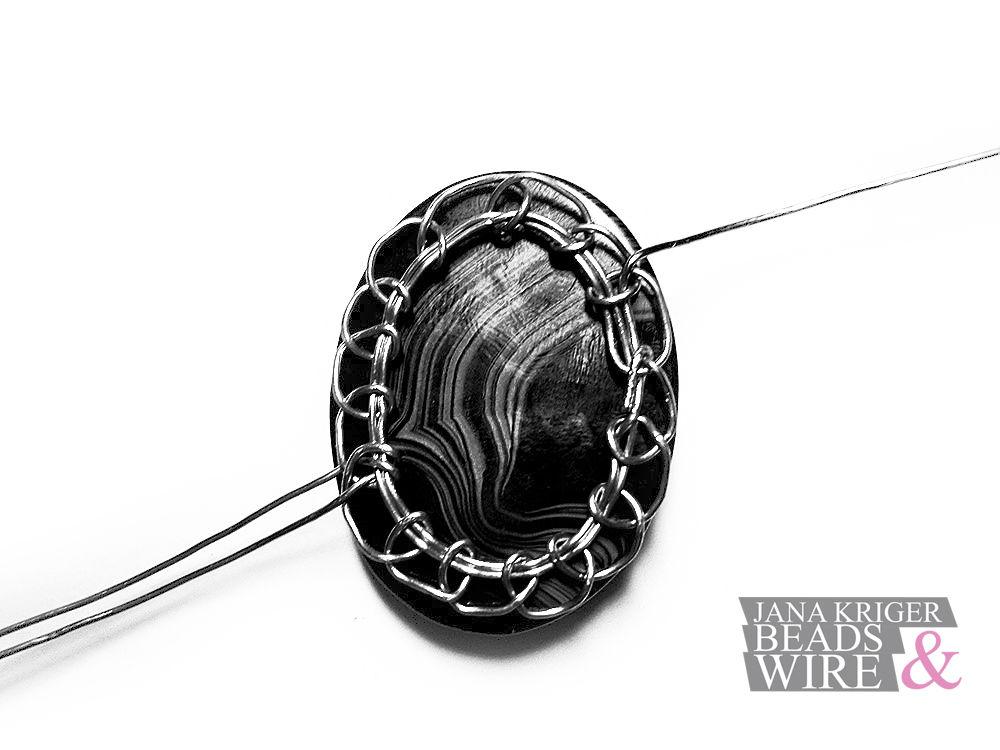 Мои Маленькие Истории Wire Wrap. Часть 3 - Колье., фото № 15