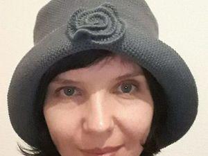 Теплая шляпка из мериноса. Ярмарка Мастеров - ручная работа, handmade.