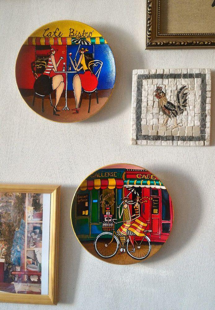 декор интерьера, настенные тарелки