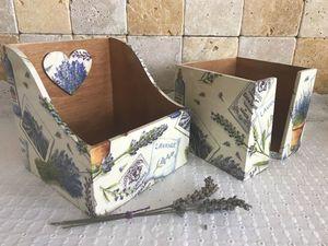 Фото отчет для Ирины: салфетница и короб для специй. Ярмарка Мастеров - ручная работа, handmade.