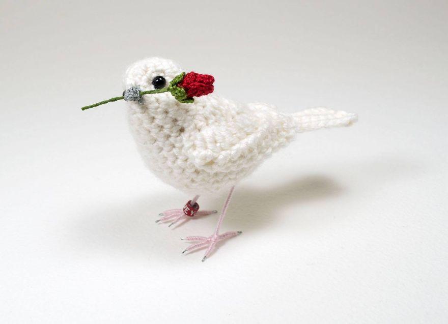 Вот-вот взлетят: реалистичные вязаные птицы Jose Heroys, фото № 26