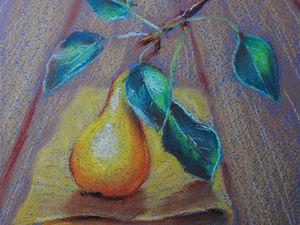 Рисуем пастелью осеннюю грушу. Ярмарка Мастеров - ручная работа, handmade.