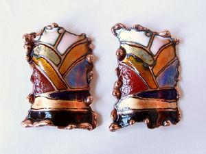 Пошаговое изготовление украшений с горячей эмалью. Ярмарка Мастеров - ручная работа, handmade.