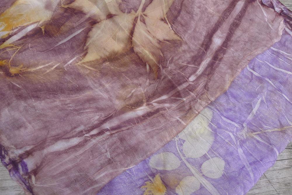 Евгения Боброва. Крашение тканей и войлока в смешанной технике с растительными принтами (МЕДИУМ ПРИНТ). Москва, фото № 4