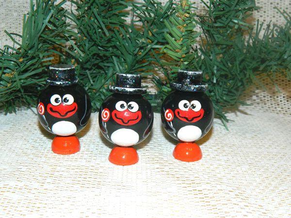 Новая елочная игрушка. Пингвинчик с карамелькой. | Ярмарка Мастеров - ручная работа, handmade