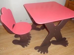Столик и стульчик | Ярмарка Мастеров - ручная работа, handmade