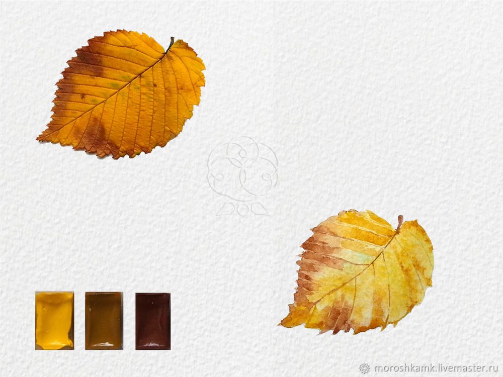 Drawing an Autumn Leaf with Watercolours, фото № 13