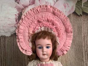 """Платье и боннет """"Старинная роза"""". Ярмарка Мастеров - ручная работа, handmade."""