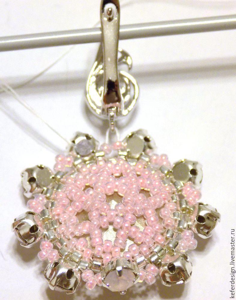 Серьги ручной работы «Цветущая сакура» из кристаллов Swarovski: процесс создания, фото № 10