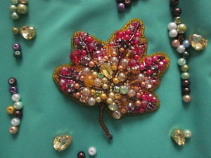 Скидка на брошь Кленовый лист только до 10 декабря!. Ярмарка Мастеров - ручная работа, handmade.