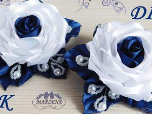 Видео мастер-класс: делаем нарядные школьные резиночки с розами. Ярмарка Мастеров - ручная работа, handmade.