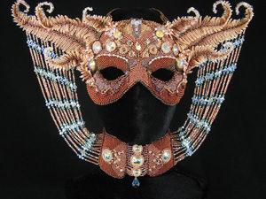 Чудесные маски вышитые бисером и стразами от MGS Designs. Ярмарка Мастеров - ручная работа, handmade.