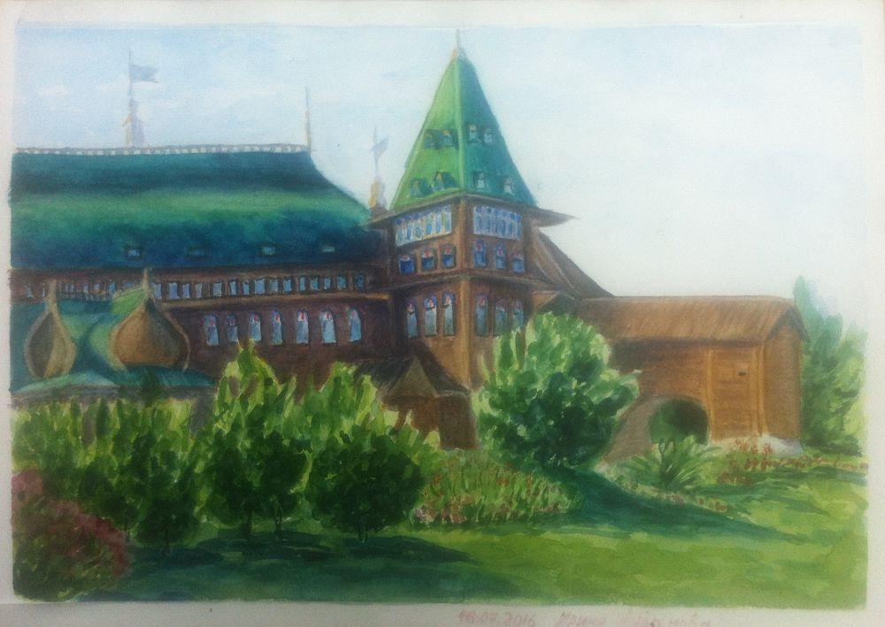 пленэр, картина с пленэра, картины москвы, городской пейзаж