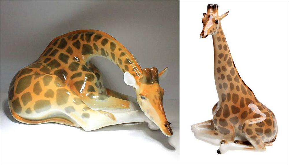 антиквариат винтаж, винтажный магазин, жираф, ретро, фарфоровая статуэтка, скульптурная миниатюра