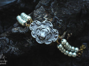 Stone lion.Браслет из полимерной глины за 1700 р.Филигрань.Готовая работа. Ярмарка Мастеров - ручная работа, handmade.