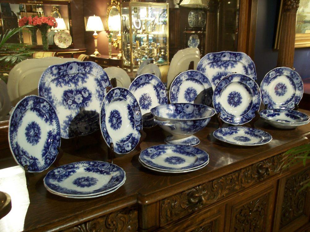 Flow blue — антикварная красота из Англии, фото № 19