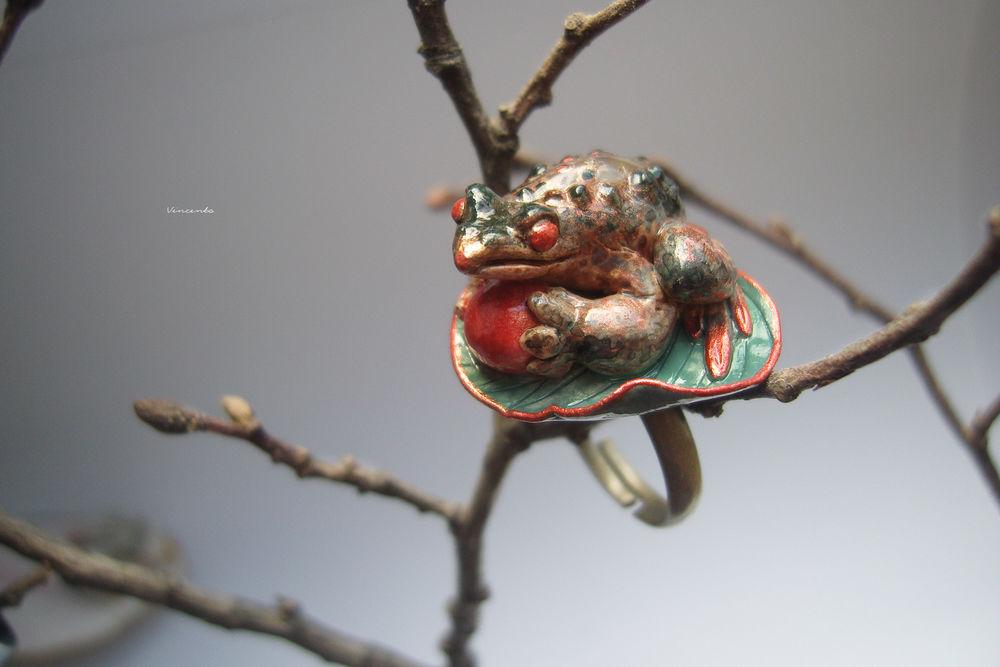 кольцо лягушка, фотосъемка