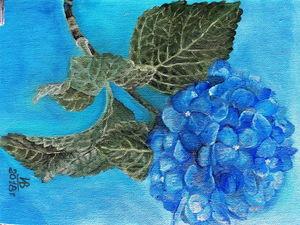 Рисуем голубую гортензию. Ярмарка Мастеров - ручная работа, handmade.