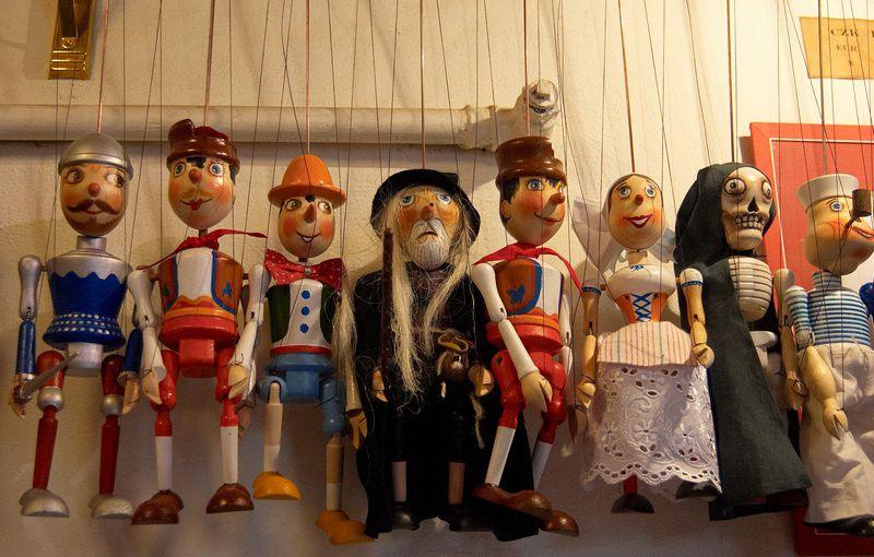 театральные куклы, теневой театр