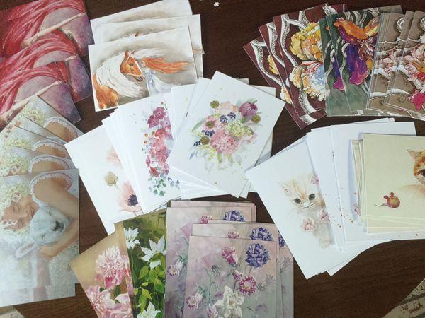 БЕСПЛАТНАЯ доставка авторских открыток!!!! | Ярмарка Мастеров - ручная работа, handmade
