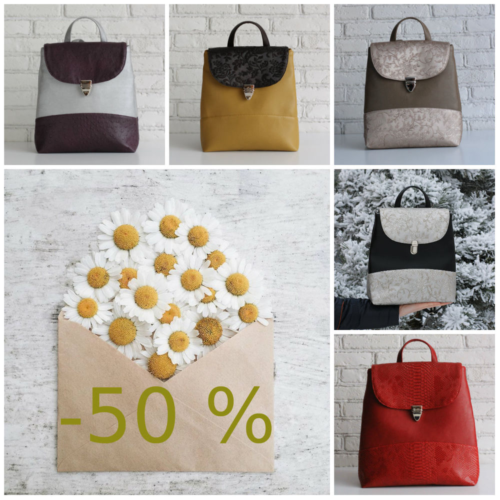 скидка, скидка 50%, распродажа готовых работ, распродажа сумок, скидки на сумки, скидка на рюкзак, распродажа рюкзаков, рюкзак, рюкзак для девушки, женский рюкзак, распродажа