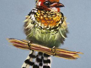 """Процесс рисования в ускоренном темпе (Speed Drawing) — """"Птичка"""". Ярмарка Мастеров - ручная работа, handmade."""